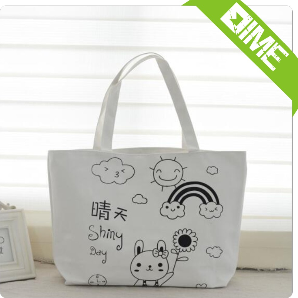 Good Quality Newly Design Hot Sale Luxury White Canvas Bag