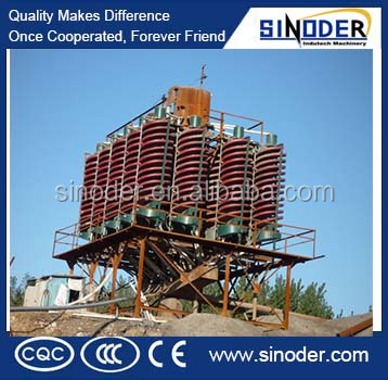 Supply Iron ore, tantalum spiral chute Gravity Separator in ilmenite beneficiation plant