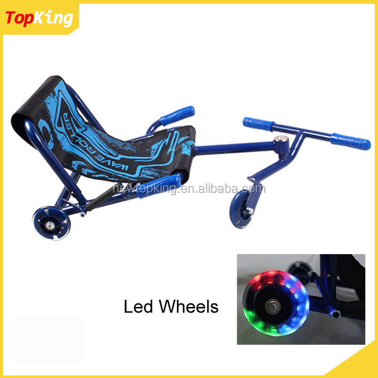 Hot sale LED flashing Wheel tricycle 3 wheels ezy roller go kart swing scooter