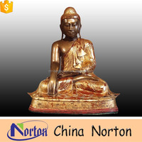 metal craft large burmese bronze buddha garden statues NTBH-S046Y