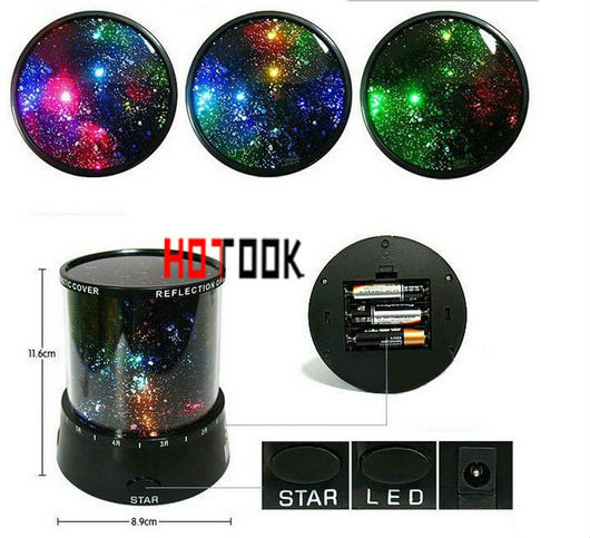 Colorful Cosmos LED Sky Star Light Constellation Projector Night Light Lamp Sound Asleep