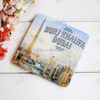 Dubai City Custom gift metal cup mat bar mat,metal sign for tablemat