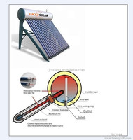 Integrated Pressurized Solar water Heater Heat Pipe heating System 14mm stainless steel type for cold weather country antifreez