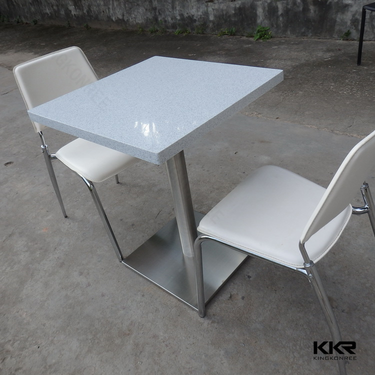 Fast food restaurant exclusive use dining table set & dining table 6 chairs set & round stone top dining tables