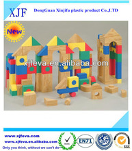 Children plastic pure color building block toys educational building blocks