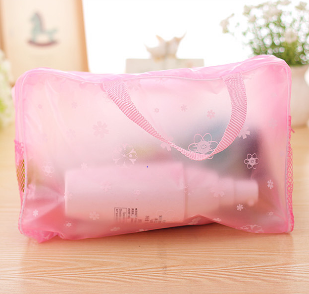 Anhui 2017 Fashion Transparent Printing PVC Waterproof Toiletry Bag For Travel Made In China