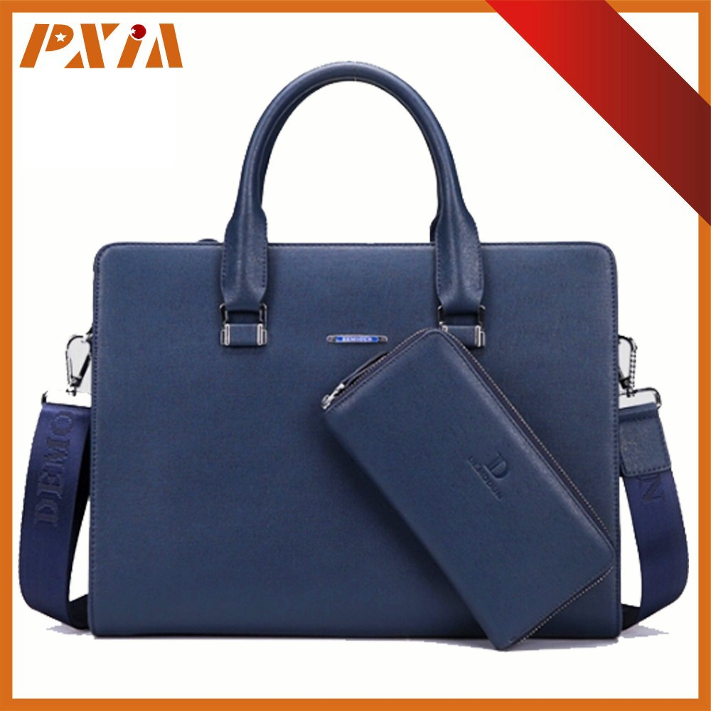 Genuine Leather Briefcase Hard Case Bags For Laptop Computer Waterproof Briefcase