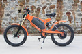 Stealth eBike power ebike 48V 1500W with 48V 26Ah Li-ion Battery Front Rear Suspension Fork Electric Motorcycle Orange bomber
