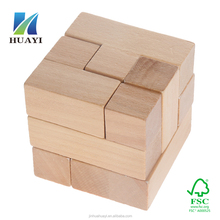 wholesale wooden puzzle cube
