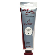 Mont Marte Oil Paint 100mls - Titanium White