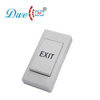 NO NC mini plastic door exit 12 volt push button switch white color