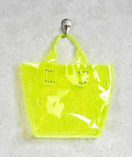 Clear Vinyl Neon Hue Mini Tote Bag