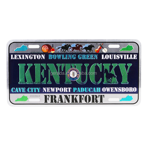 Personalized Souvenir Emboss Motorcycle License Plate