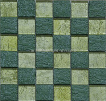 foshan square pattern glass mosaic wall tile
