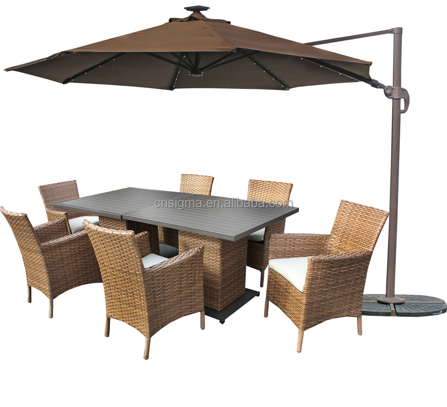 2017 Best selling durable wicker rattan banquet hall chairs and tables