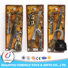 High quality cheap novelty plastic pirate set kids toy weapon
