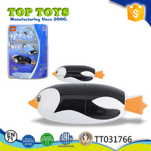 2017 Most popular kids B/O bath toys parent-child diving penguin