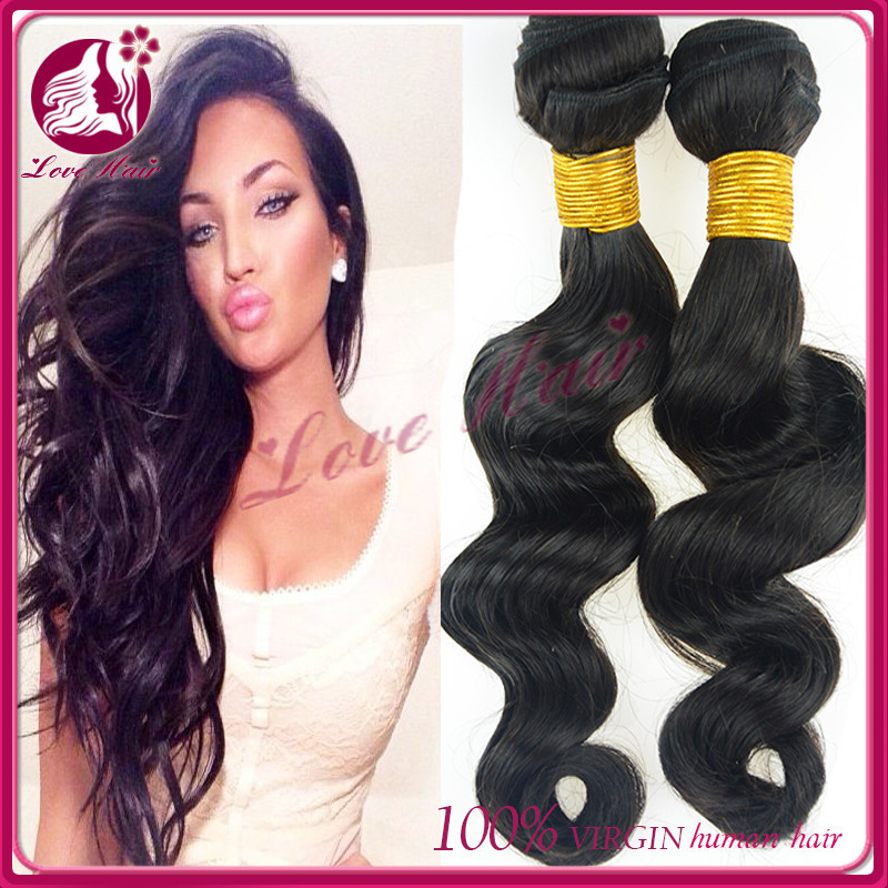 Raw Unprocessed loose wave hair pieces for top of head brazilian natural girls hair private label hair extensions