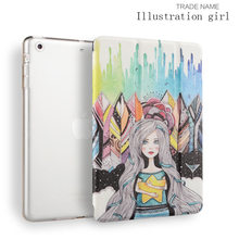 Folio Fold Printed 8-inch OEM pu leather sleep/wake fuction color printed Joy color tablet case for Ipad mini 123