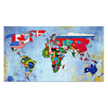 1 Panel HD Printed World Map Painting Canvas Art Printing Map of World Flag Wall Picture for Living Room/VA170816-6