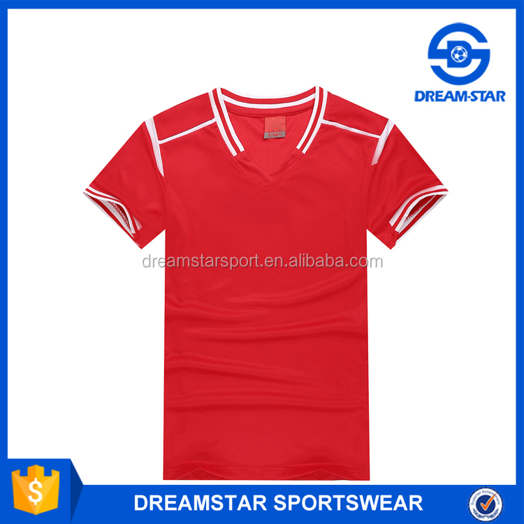 Wholesale Red Training Sport Soccer Shirt Online Shopping