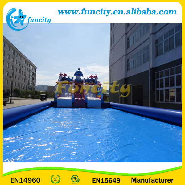 Toys Ocean Inflatable Water Park on Land with Inflatable Slide