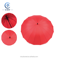 Promotional Business Golf Umbrella with Straight Handle Strong Durable Sunshade