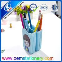 2015 new style plastic folding pencil case/for school kids and office