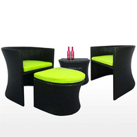 2 seater terrace leisure wicker bar table and ottoman chiars resin rattan patio rooms to go outdoor furniture