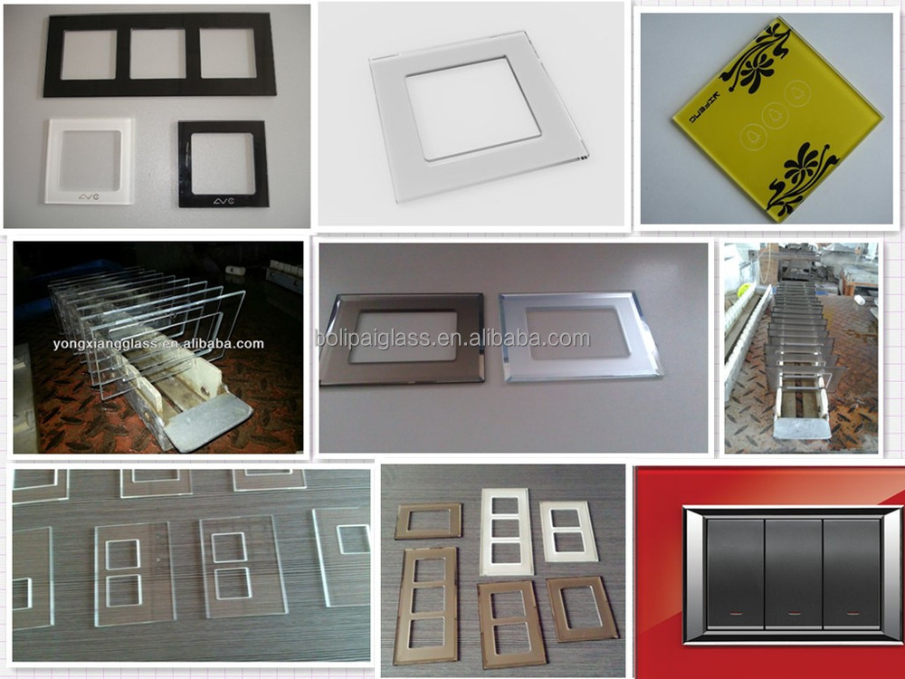 Elegant color silk-screen glass switches decorative panel