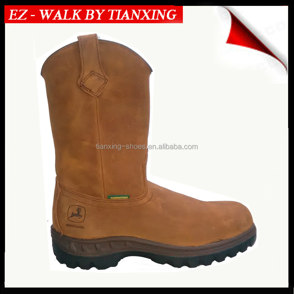 Steel toe Waterproof work boots with PU/TPU Outsole