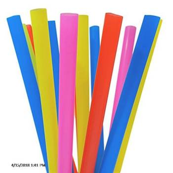 Reusable Color Hard Plastic Party Drinking Smoothie Straws