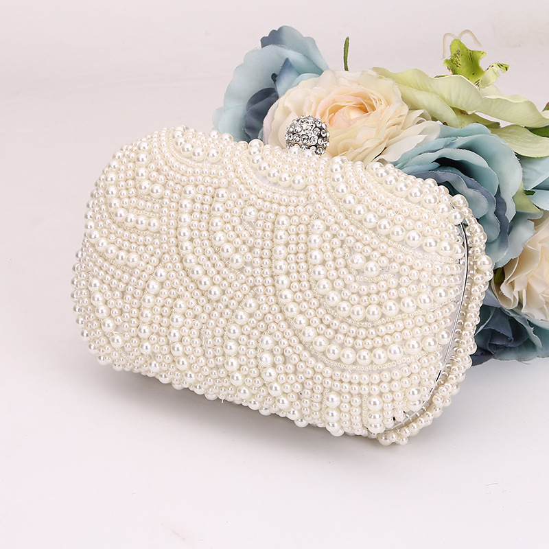 Pearl Flower Purse Women's Small Rose Evening Clutch Bags