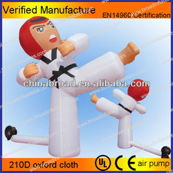 lifelike and durable giant taekwondo advertising inflatables