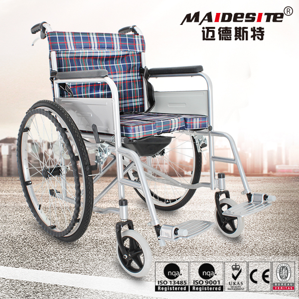 2016 Cheapest foldable rollator seat elderly manual wheelchair with toilet