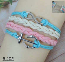 New Fashion Vintage Charm Elegant Bird Tree Character Infinity Cross Multilayer Leather Bracelet For Women Jewelry