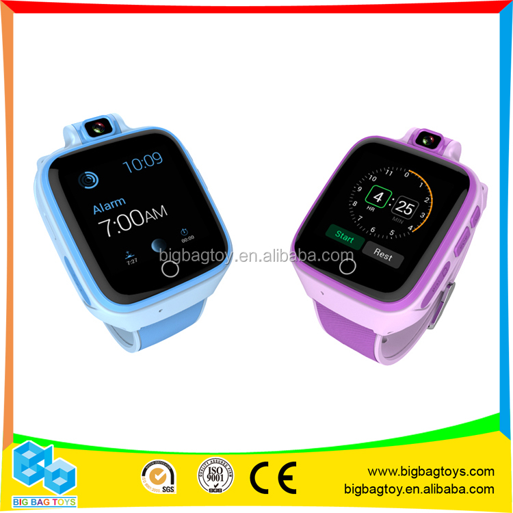 4G Touch Screen smart watch for kids with camera and calling sos and gps function Q400