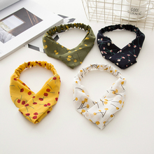 Fashionable New Trendy Promotional Forehead Beauty Headband, Yellow Color Little Flower Printed Trendy Headbands