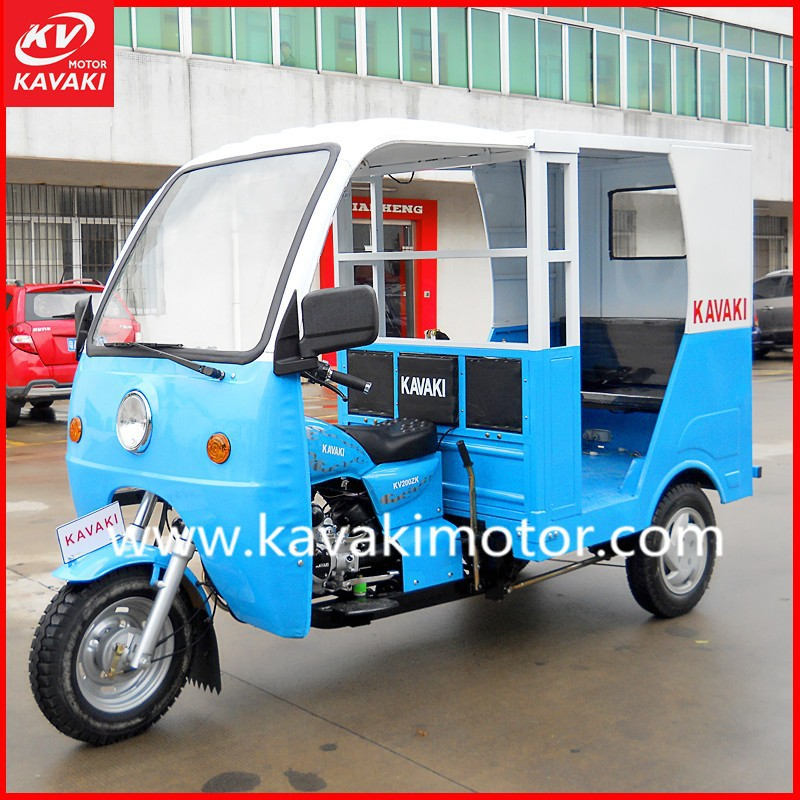 Semi-closed Moto Taxi Similar As Bajaj Tricycle Passenger With Cabin