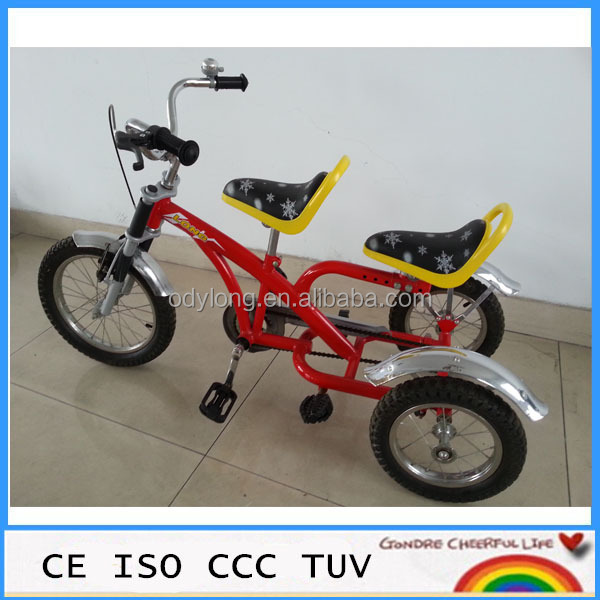 three wheel double seat kids childb tricycle TR14-14AB