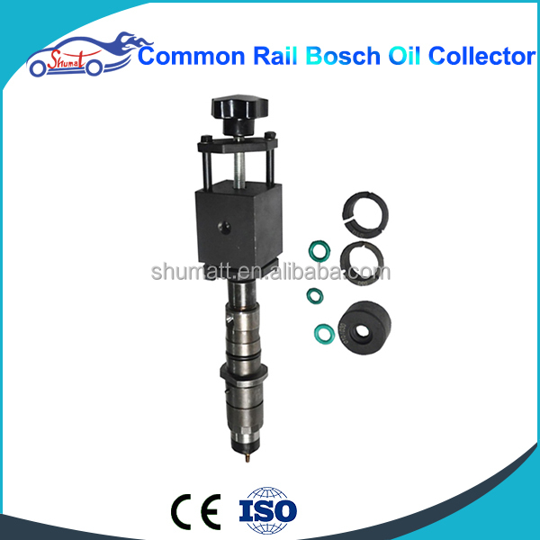 Common rail injector Oil catcher fuel collector Adapters kit for testing repair Common Rail Injector