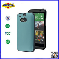 New Arrival for HTC One M8 Ultra Thin Aluminum Mental Bumper Case Shockproof Back Hard Cover Laudtec