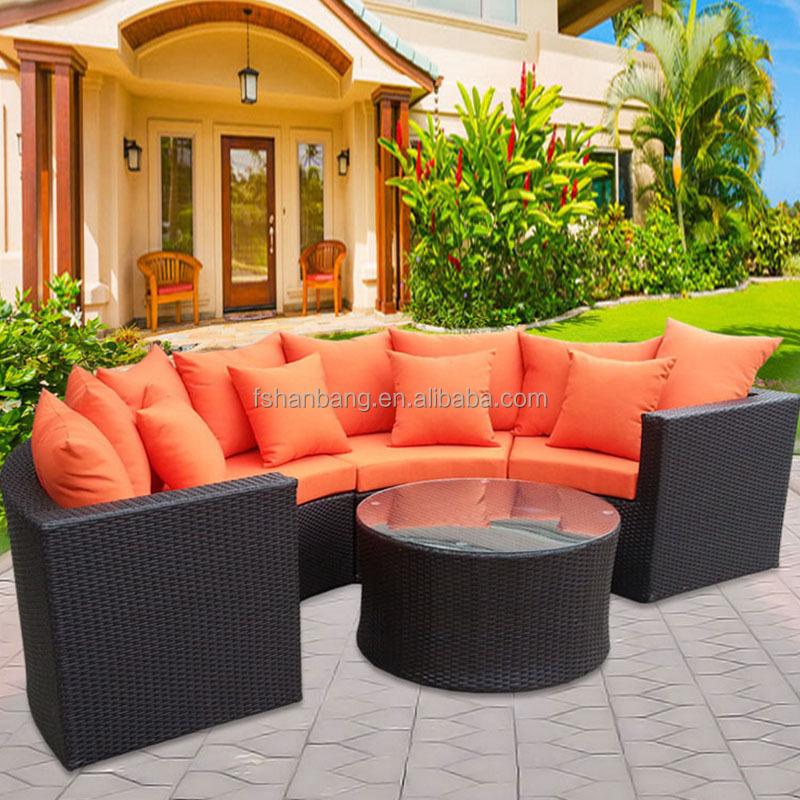 Patio Round Semic Circle Garden Wicker Sofa Buy Semi
