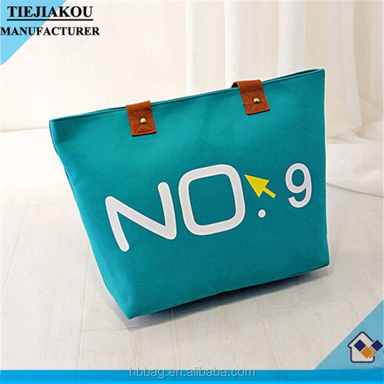 Fashion Latest Large Capacity Canvas Summer Beach Bags/Ladies Shopping Handbags
