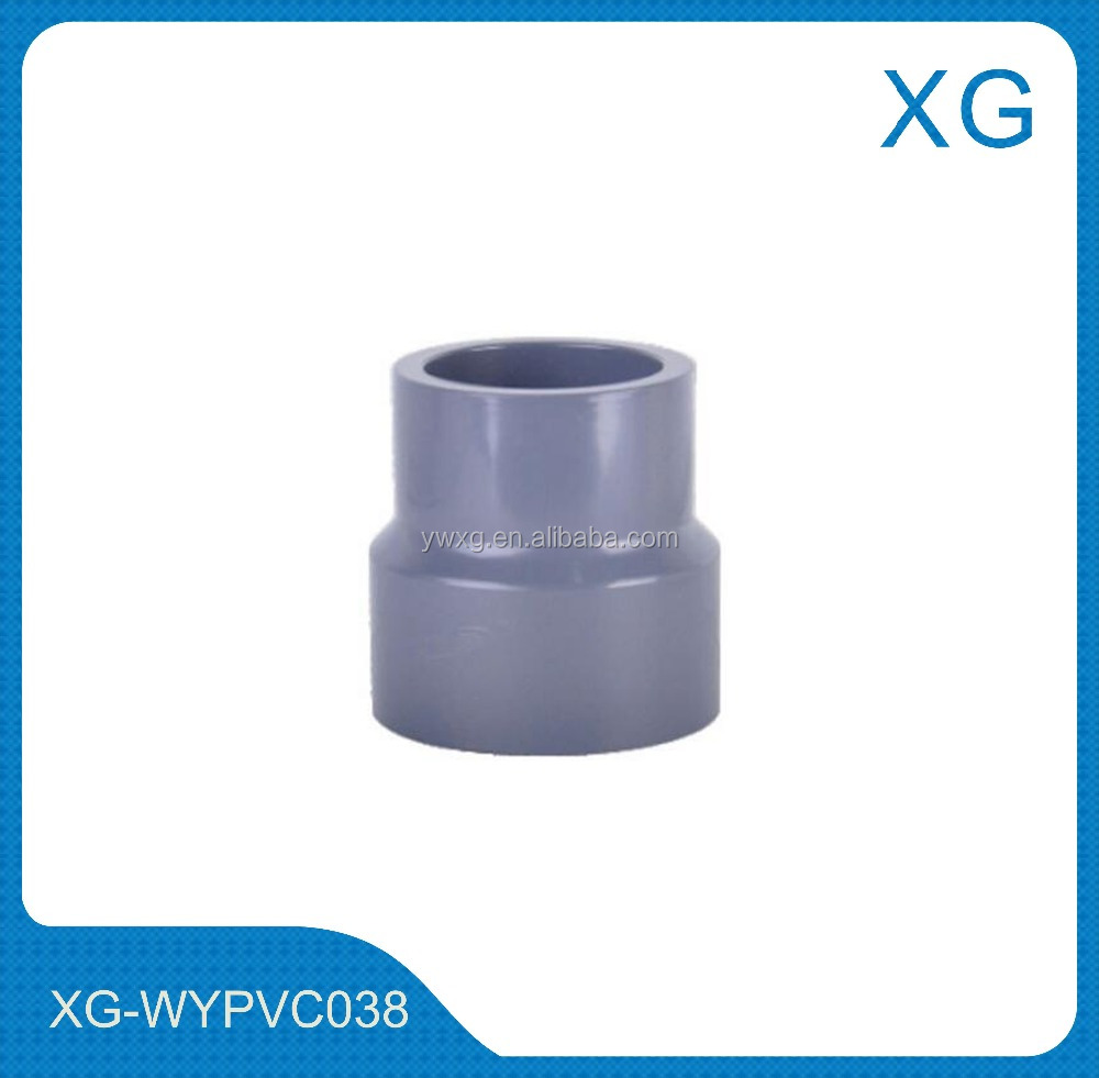 pvc sanitary pipes fittings adaptor coupling/PVC pipe and fittings reducing union socket for cold hot water supply