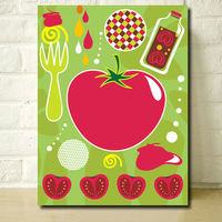 Abstract Fruit Pop Art Canvas for Wall Hanging Decoration