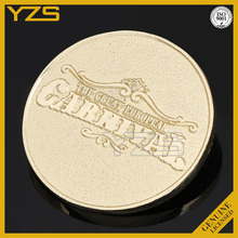 custom stamping metal golden plate round coin