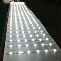 Led strip with lens for sign flat backlight panel