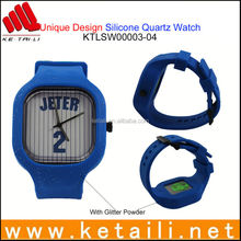 New coming OEM liquid silicone rubber fluororubber sport quartz watch with all colors available