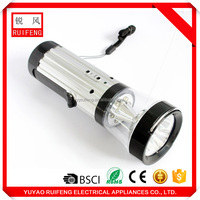 CE RoHS certification low price camping with compass led hand crank flashlight
